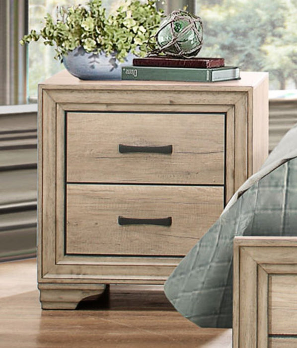 HomeRoots Office Wooden Night Stand With 2 Drawers In Brown