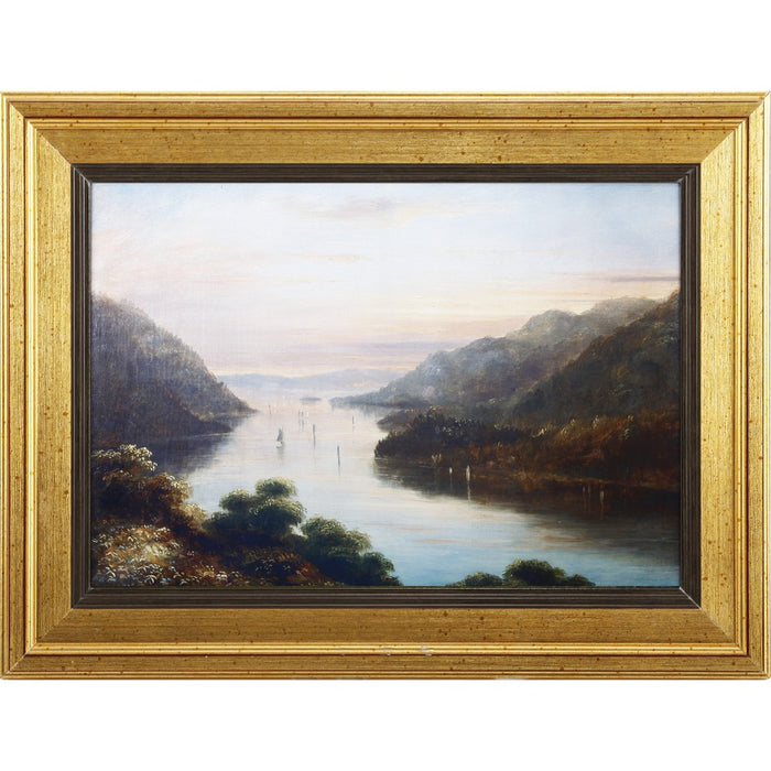 HomeRoots View From West Wall Art With Wooden Frame, Multicolor