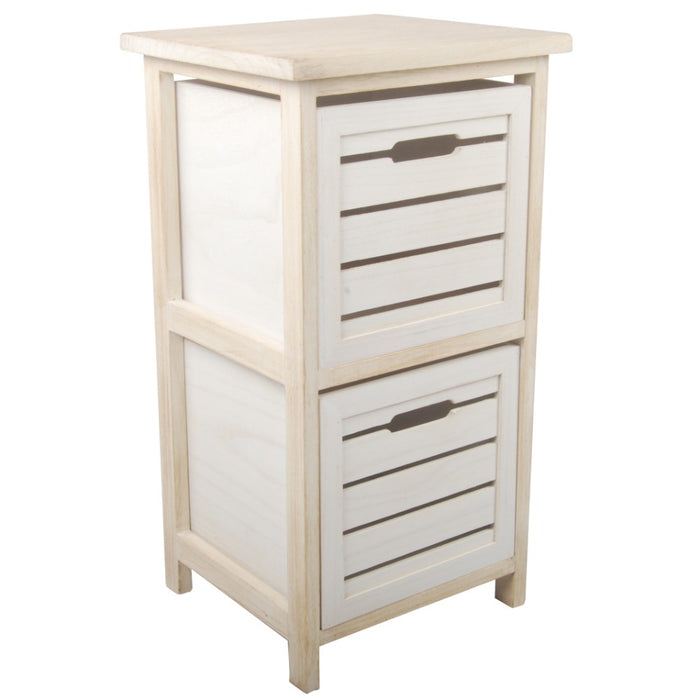 HomeRoots Office Space Efficient Wooden Drawers, Cream and White