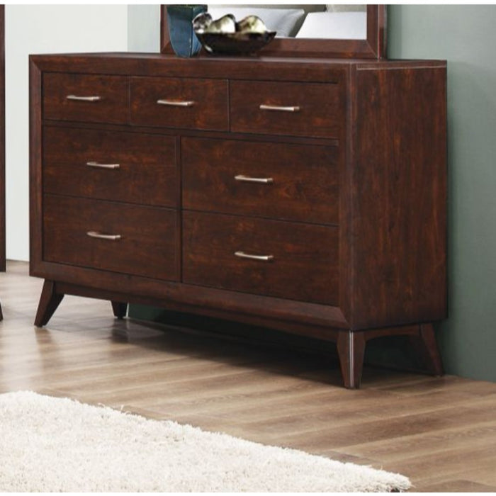 HomeRoots Office Wooden Dresser with 7 Drawers, Coffee Brown