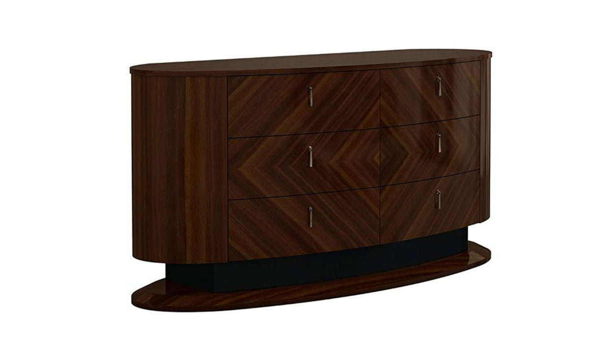HomeRoots Office Wooden Dresser with Six Drawers, Brown