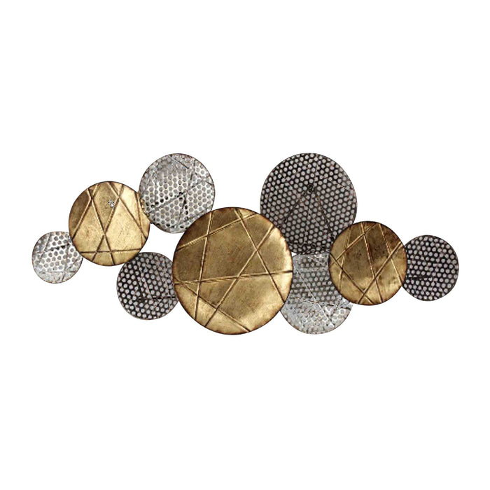 HomeRoots Metal Constructed Wall Decor, Gold and Silver