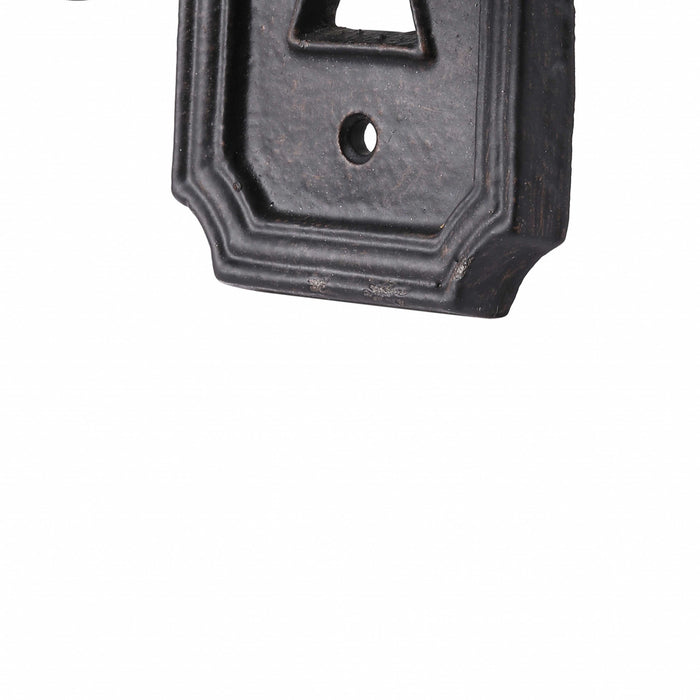 HomeRoots Vintage Style Key in Lock Metal Wall Hooks, Set of 2, Black