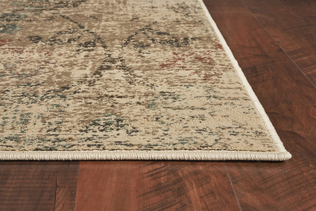 "HomeRoots 5'3"" x 7'8"" Polypropylene Champagne Area Rug"