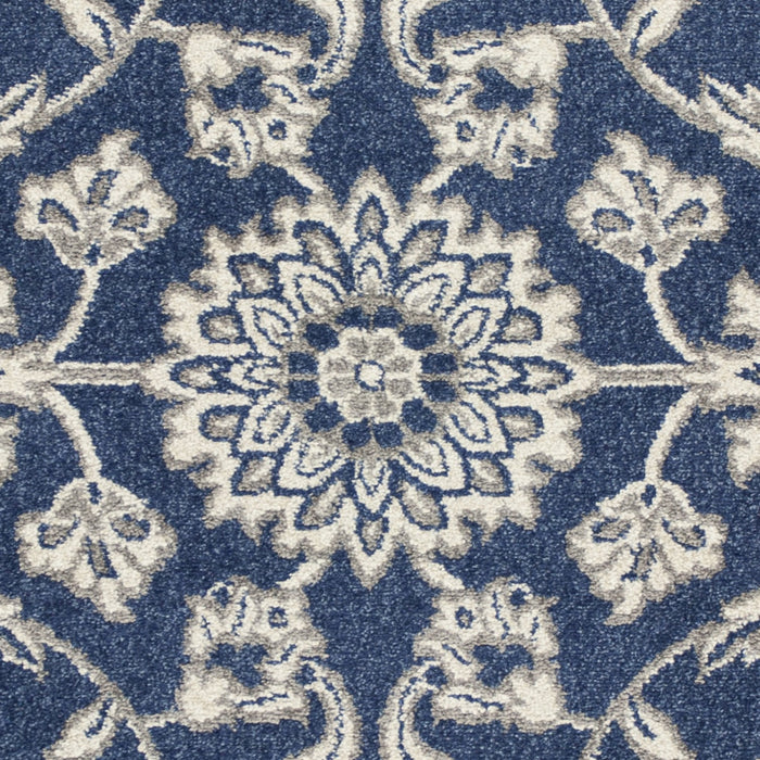 "HomeRoots 23"" x 45"" UV-treated Polypropylene Denim Area Rug"