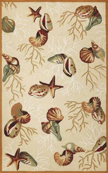 "HomeRoots 20"" x 30"" Polyester Beige Area Rug"