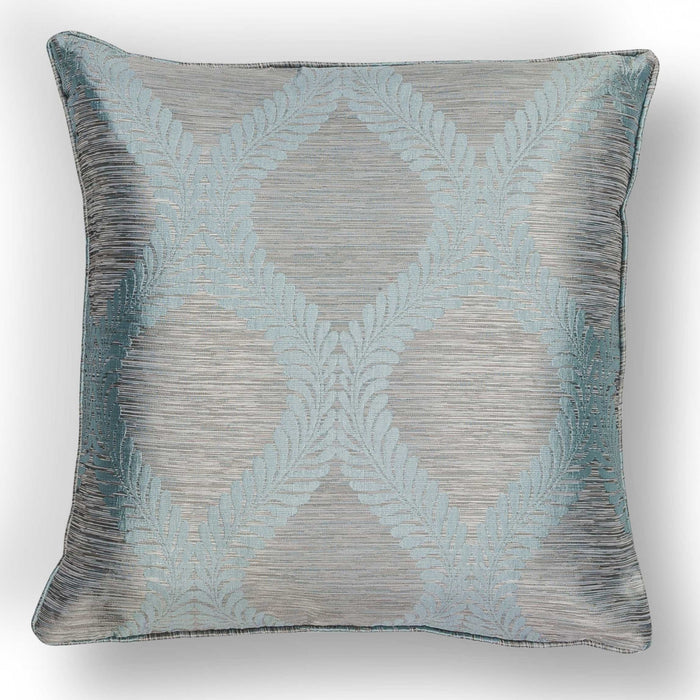 "HomeRoots 20"" x 20"" Polyester Blue/Grey Pillow"