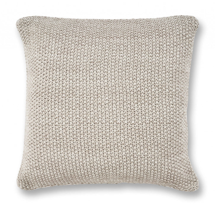 "HomeRoots 20"" x 20"" Cotton Grey Pillow"
