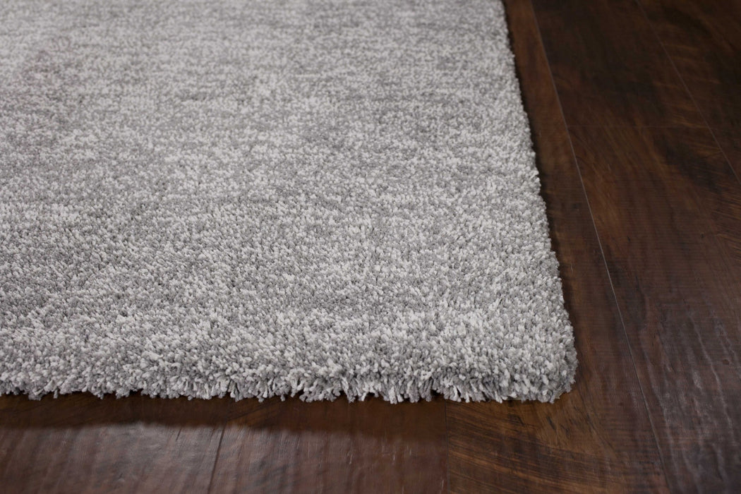 "HomeRoots 27"" X 45"" Polyester Grey Heather Area Rug"