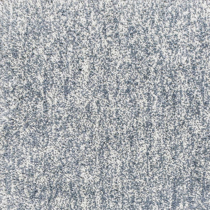"HomeRoots 27"" X 45"" Polyester Slate Heather Area Rug"