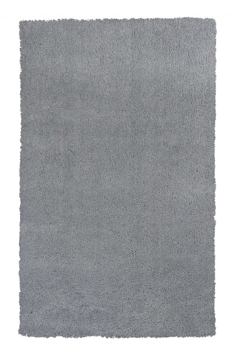 "HomeRoots 27"" X 45"" Polyester Grey Area Rug"