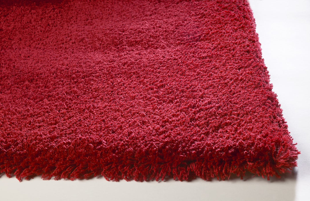 "HomeRoots 27"" X 45"" Polyester Red Area Rug"