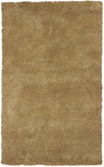 "HomeRoots 27"" X 45"" Polyester Gold Area Rug"