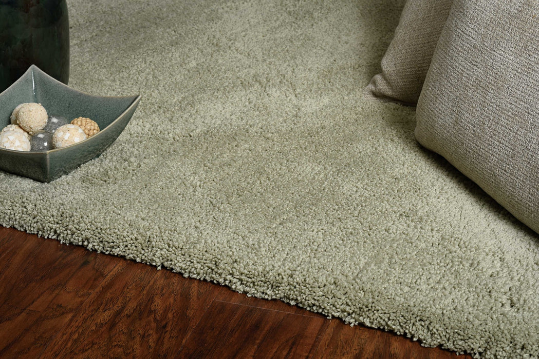 "HomeRoots 27"" X 45"" Polyester Sage Area Rug"