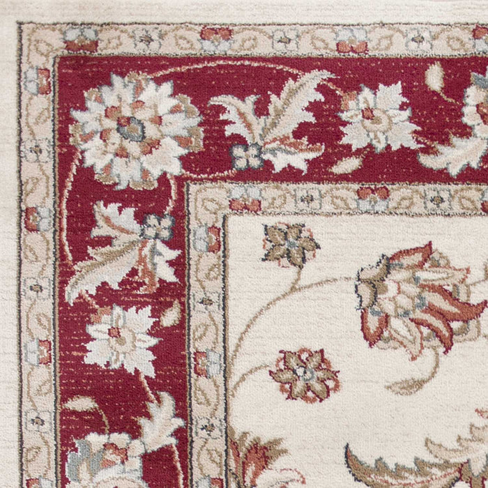 "HomeRoots 3'3"" x 5'3"" Polypropylene Ivory/Red Area Rug"