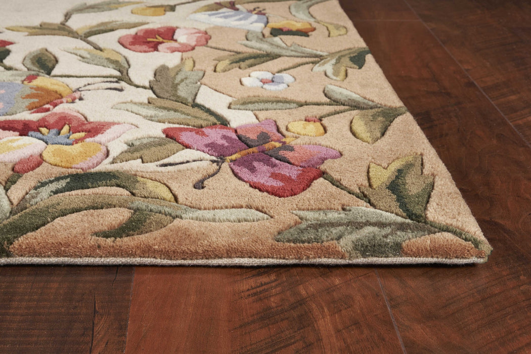 HomeRoots 2' x 3' Wool Antique Beige Area Rug