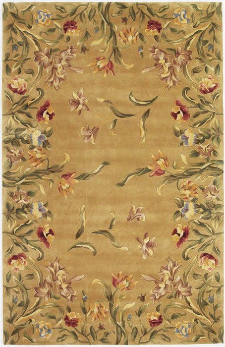 HomeRoots 2' x 3' Wool Gold Area Rug