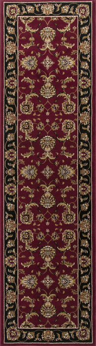 "HomeRoots 2'2"" x 7'11"" Runner Polypropylene Red/Black Area Rug"