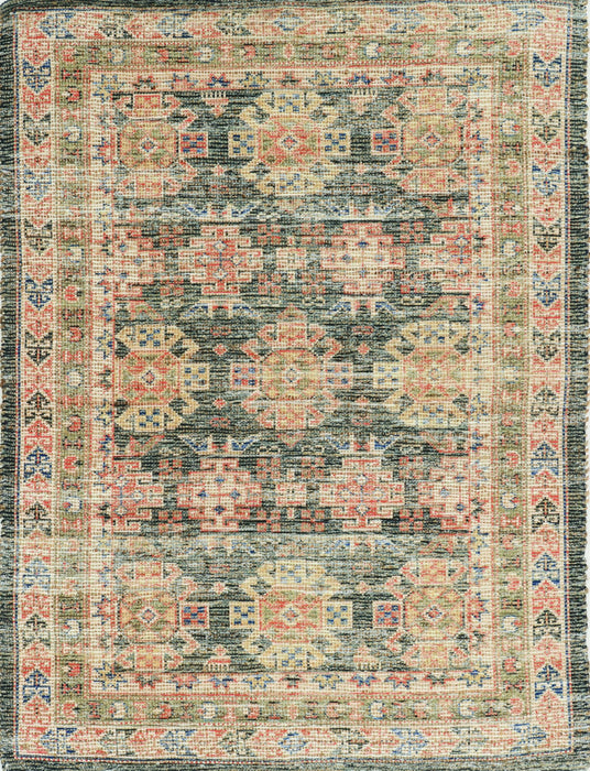 "HomeRoots 3'3"" x 5'3"" Jute Charcoal Area Rug"
