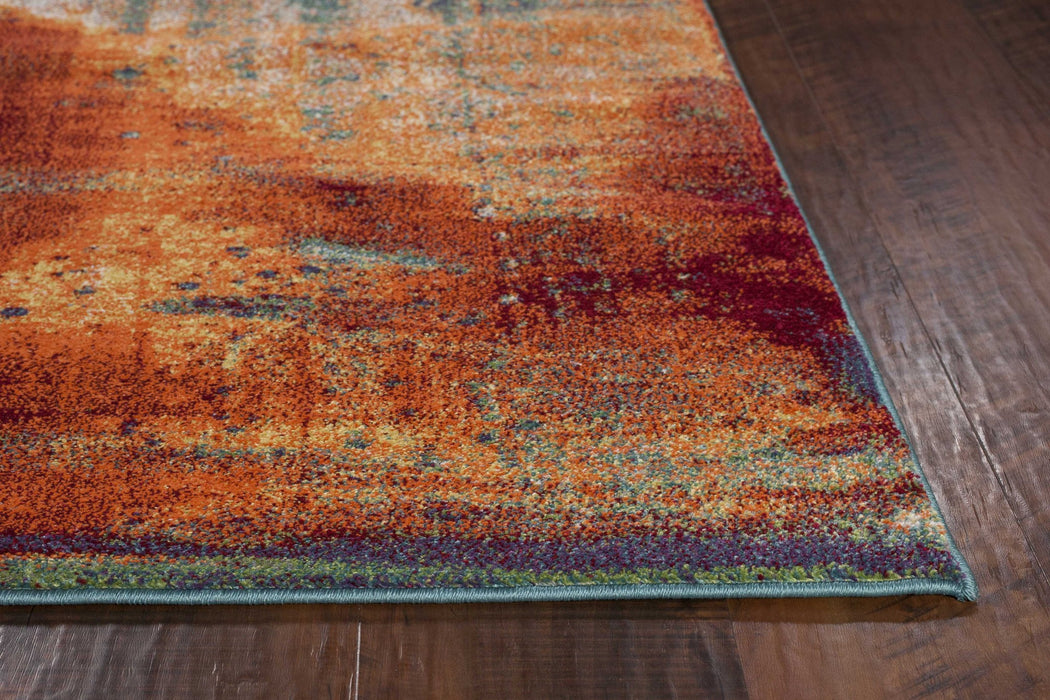 "HomeRoots 3'3"" x 4'11"" Polypropylene Multi Area Rug"