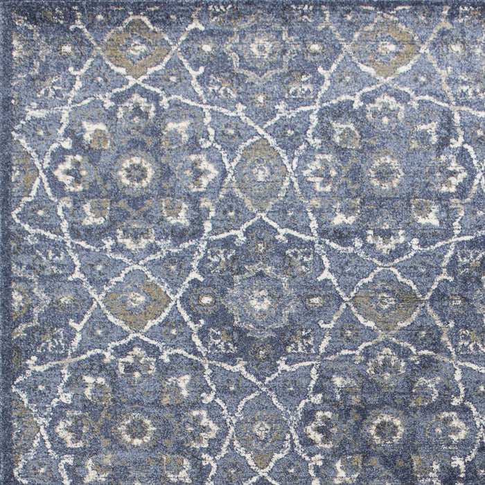 "HomeRoots 3'3"" x 4'11"" Polypropylene Denim Area Rug"