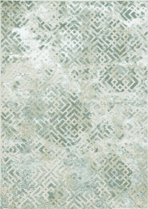 "HomeRoots 3'3"" x 4'11"" Polyester Sand Silver Area Rug"