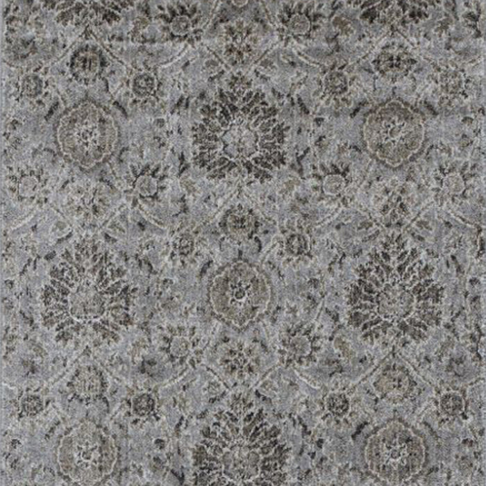 "HomeRoots 2'2""X 6'11"" Runner Viscose Silver Area Rug"