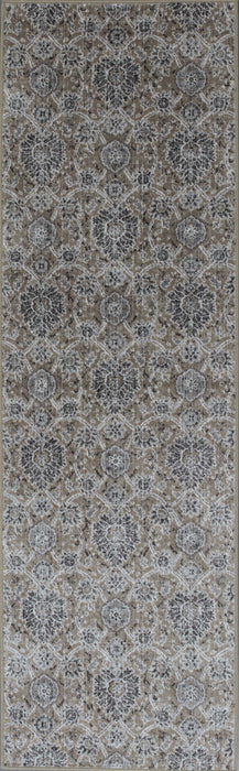 "HomeRoots 2'2""X 6'11"" Runner Viscose Sand Area Rug"
