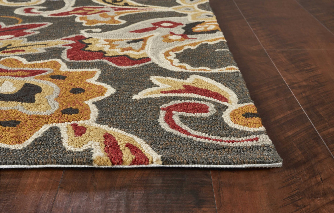 "HomeRoots 3'3"" x 5'3"" UV-treated Polypropylene Taupe Area Rug"
