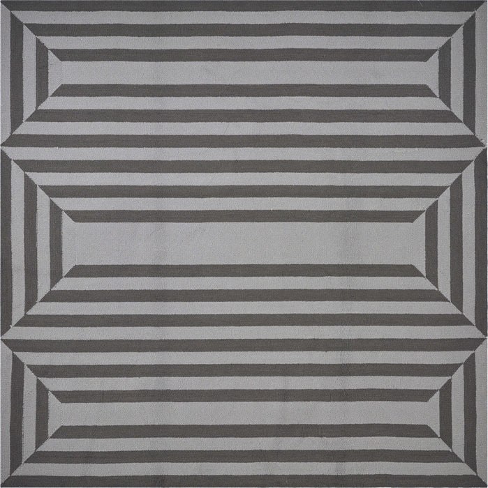 HomeRoots 3' x 5' UV-treated Polypropylene Charcoal Area Rug