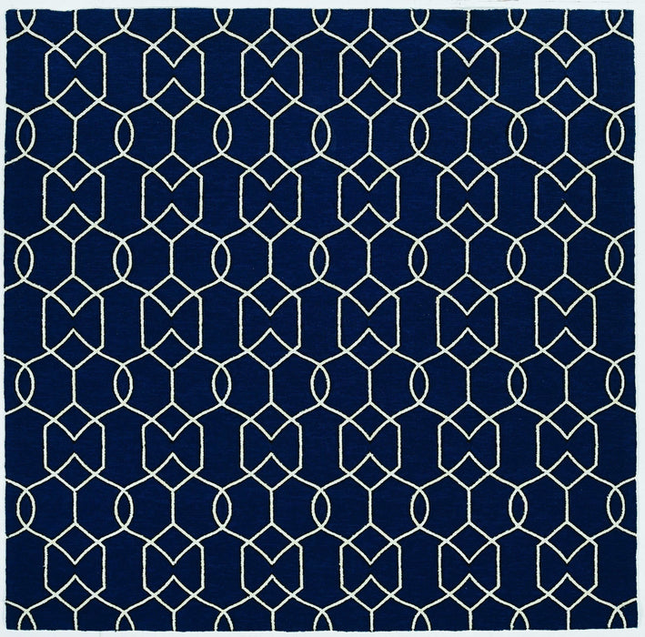 HomeRoots 3' x 5' UV-treated Polypropylene Navy Area Rug
