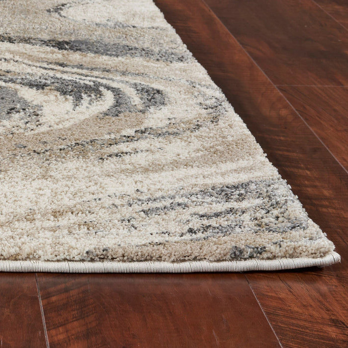 "HomeRoots 2'2"" x 7'6"" Runner Polypropylene Natural Area Rug"