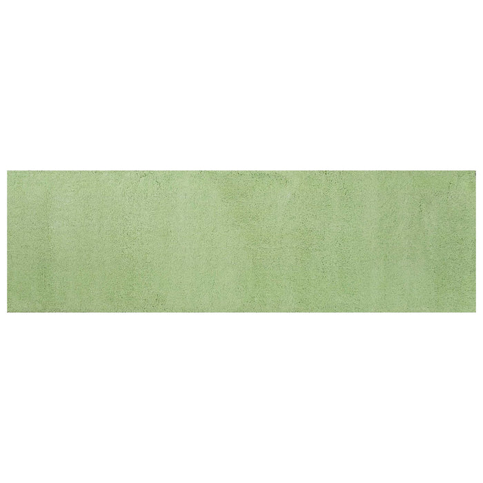 "HomeRoots 2'3"" x 7'6"" Runner Polyester Spearmint Green Area Rug"