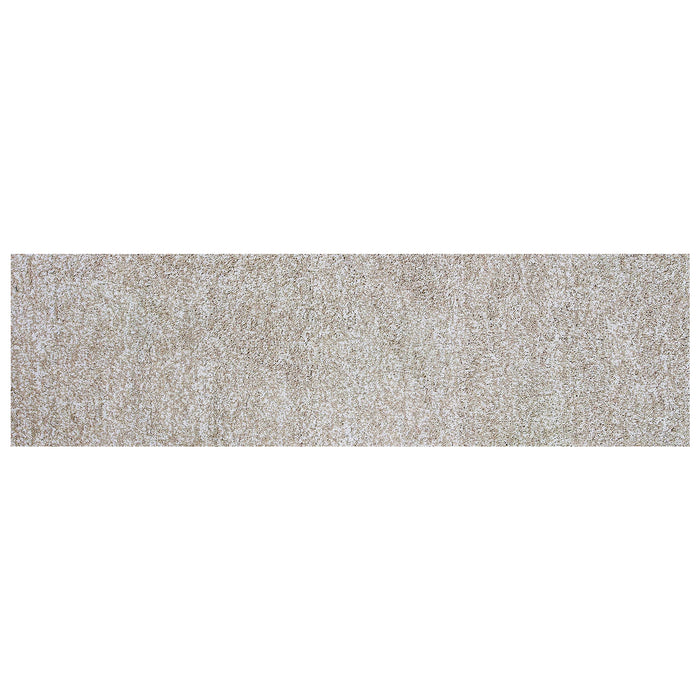 "HomeRoots 2'3"" x 7'6"" Runner Polyester Ivory Heather Area Rug"