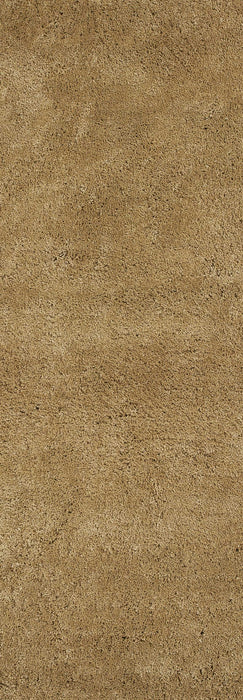 "HomeRoots 2'3"" x 7'6"" Runner Polyester Gold Area Rug"