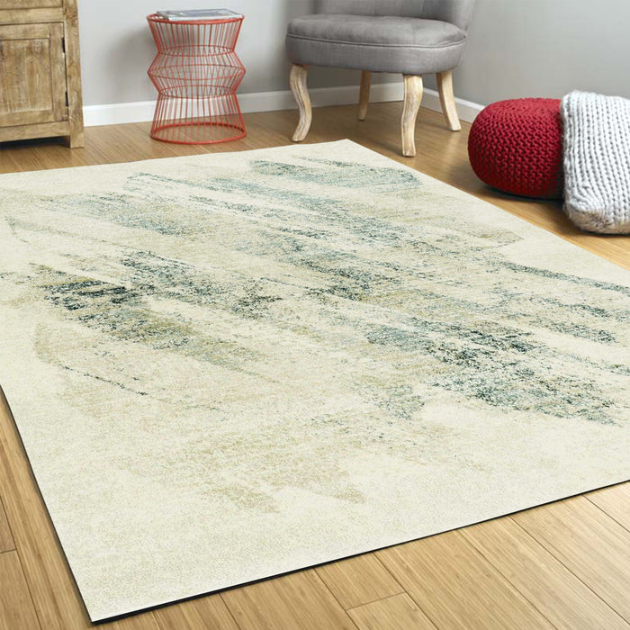 "HomeRoots 3'3"" x 4'11"" Polypropylene Ivory/Grey Area Rug"