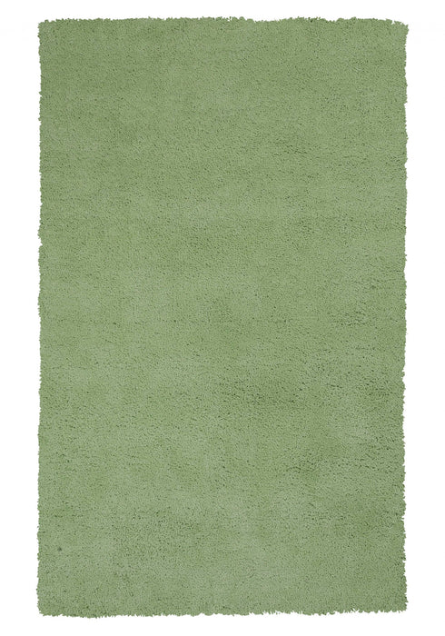 "HomeRoots 3'3"" x 5'3"" Polyester Spearmint Green Area Rug"