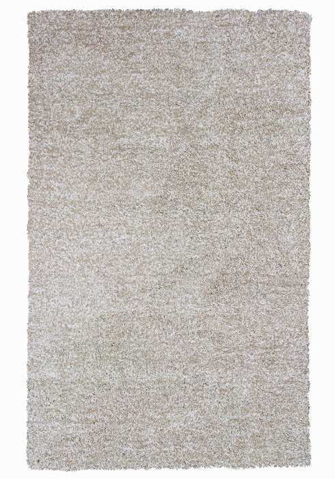 "HomeRoots 3'3"" x 5'3"" Polyester Ivory Heather Area Rug"
