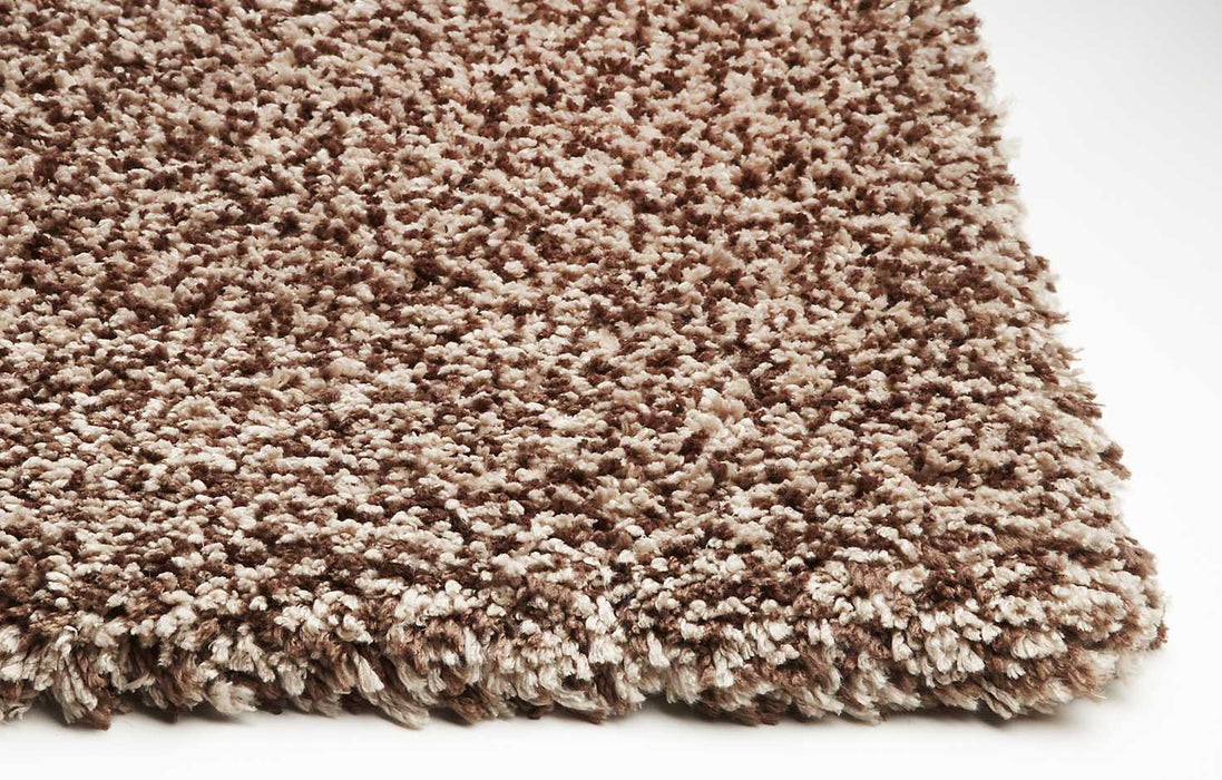 "HomeRoots 3'3"" x 5'3"" Polyester Beige Heather Area Rug"