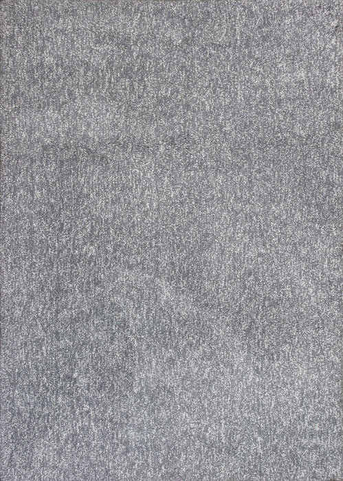"HomeRoots 3'3"" x 5'3"" Polyester Grey Heather Area Rug"