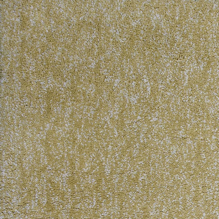 "HomeRoots 3'3"" x 5'3"" Polyester Yellow Heather Area Rug"