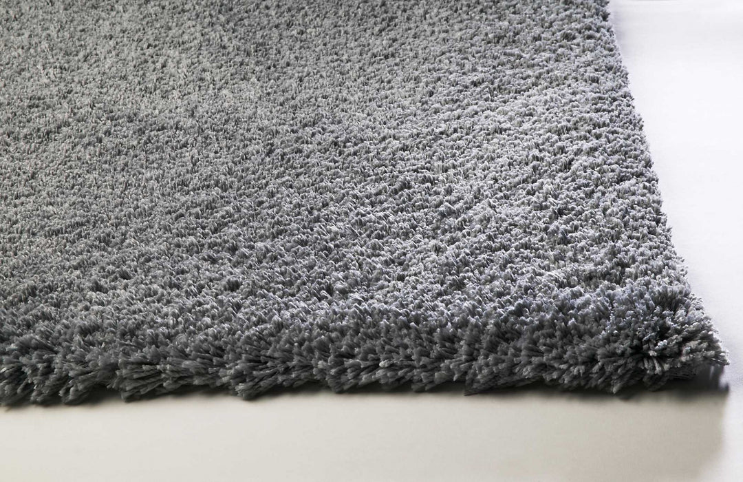 "HomeRoots 3'3"" x 5'3"" Polyester Grey Area Rug"