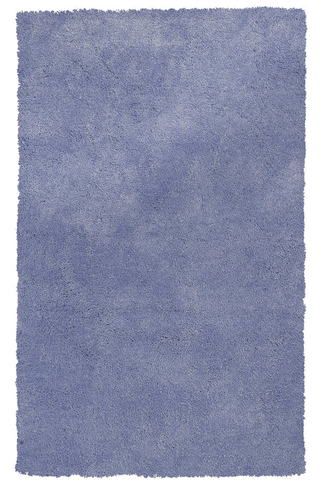 "HomeRoots 3'3"" x 5'3"" Polyester Purple Area Rug"