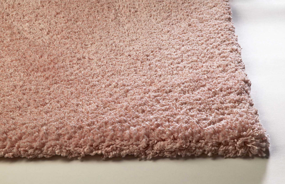 "HomeRoots 3'3"" x 5'3"" Polyester Rose Pink Area Rug"