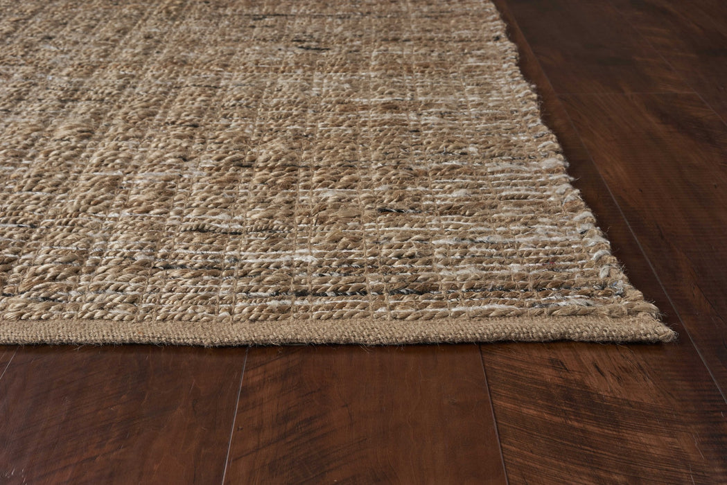 "HomeRoots 3'3"" x 5'3"" Jute Black Area Rug"