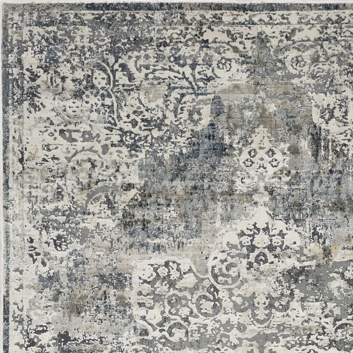 "HomeRoots 3'3"" x 4'11"" Polyester Ivory Area Rug"