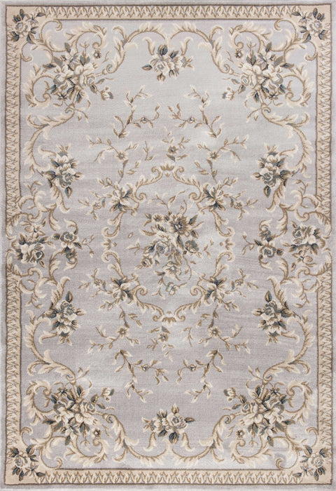"HomeRoots 5'3"" x 7'7"" Polypropylene Light Grey Area Rug"