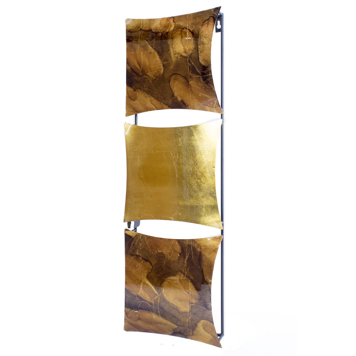 "HomeRoots 8"" X 2'.75"" X 24'.5"" Copper, Brown and Orange Metal Vertical Panel Wall Decor"