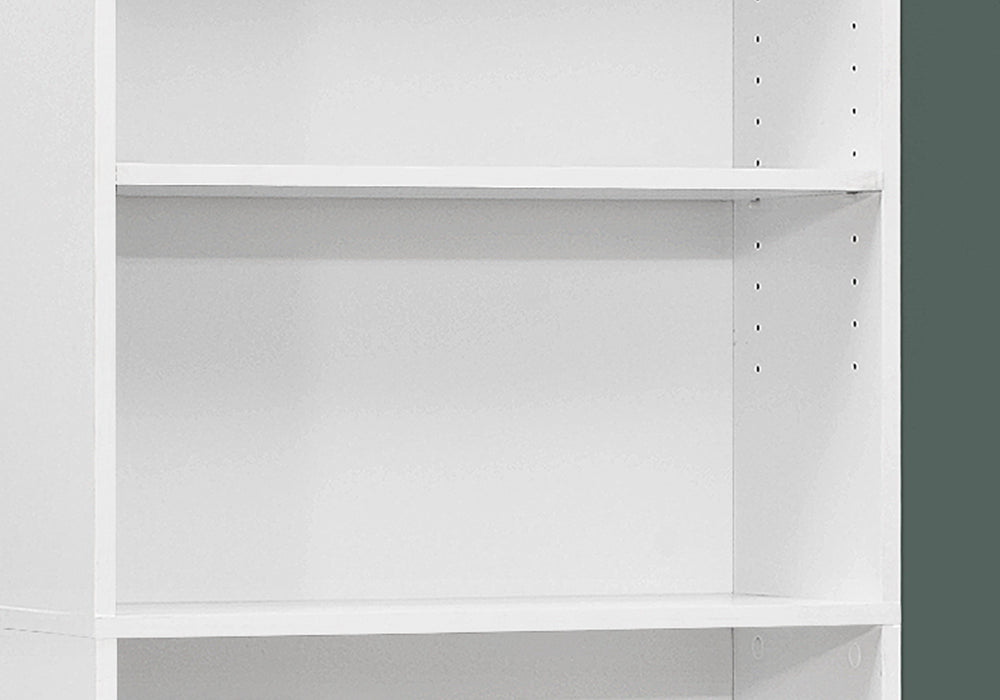 "HomeRoots Office 11'.75"" x 24'.75"" x 71'.25"" White, 5 Shelves - Bookcase"