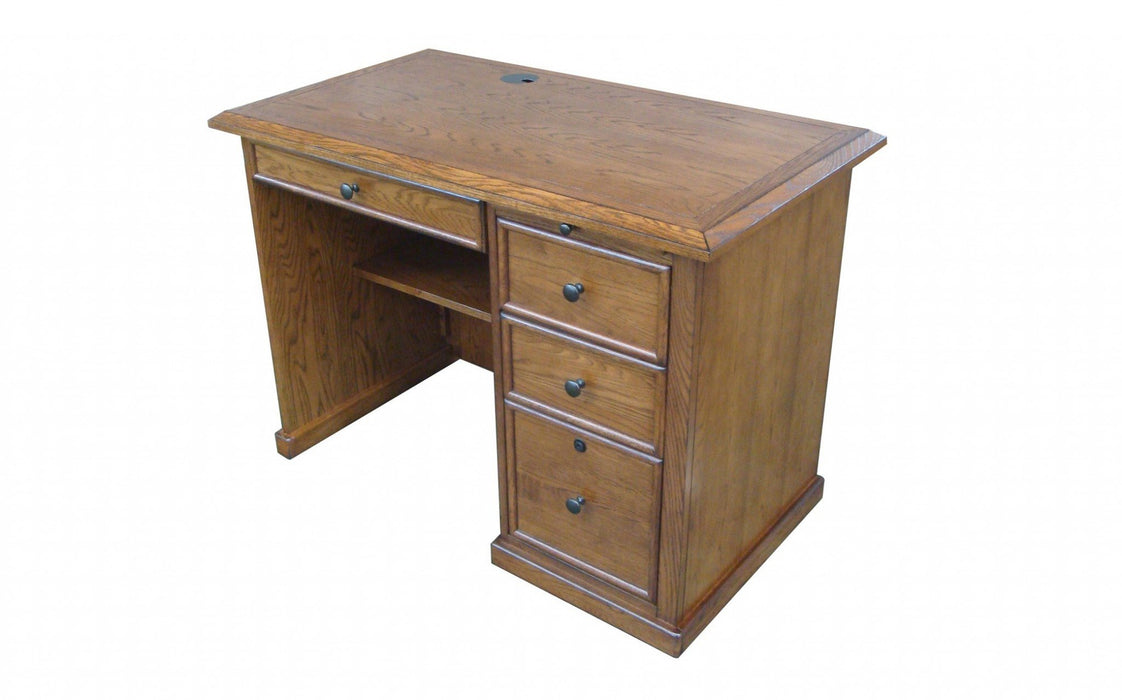 "HomeRoots Office 42"" X 24"" X 30"" Harvest Oak Hardwood Desk"